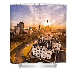 Sunrise In Hartford, Connecticut Shower Curtain