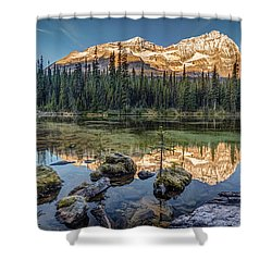 Sunrise In The Rocky Mountains Shower Curtain