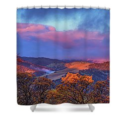 Sunrise Light Shower Curtain by Marc Crumpler