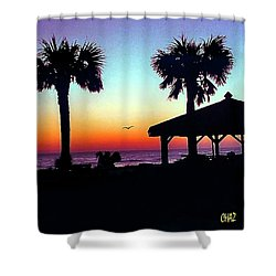Sunrise On Ormond Beach Shower Curtain