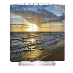 Sunrise On The Banks  Shower Curtain