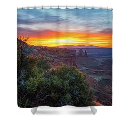 Sunrise Over Canyonlands Shower Curtain by Darren White