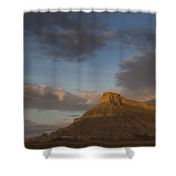 Sunrise Over Factory Butte Shower Curtain