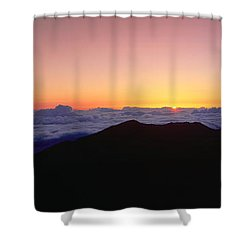 Sunrise Over Haleakala Volcano Summit Shower Curtain by Panoramic Images
