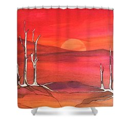 Shower Curtain featuring the painting Sunrise by Pat Purdy