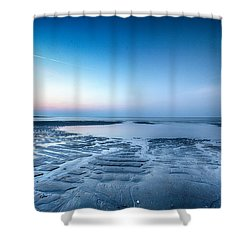 Blue Sunrise Shower Curtain