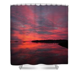 Sunrise Reflection Shower Curtain