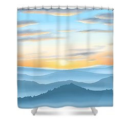 Shower Curtain featuring the painting Sunrise by Veronica Minozzi