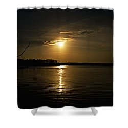 Shower Curtain featuring the photograph Sunset by Angel Cher