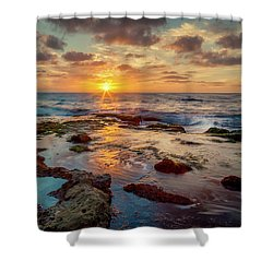 Shower Curtain featuring the photograph Sunset At La Jolla  by Rikk Flohr