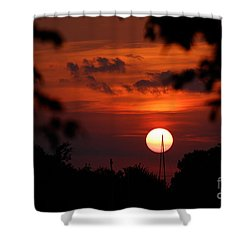Sunset At Lake Hefner Shower Curtain