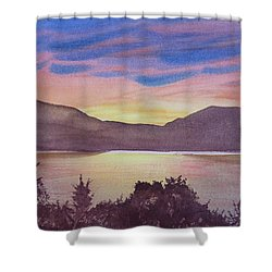 Sunset At Woodhead Campground Shower Curtain by Joel Deutsch