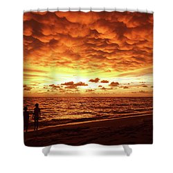 Shower Curtain featuring the photograph Sunset Before The Storm by Melanie Moraga