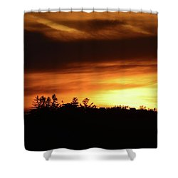 Sunset Behind The Clouds  Shower Curtain by Lyle Crump
