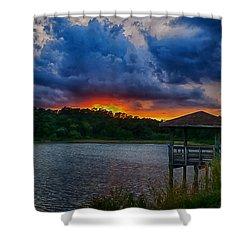 Sunset Huntington Beach State Park Shower Curtain