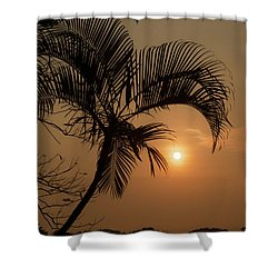 sunset Huong river Shower Curtain