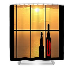 Shower Curtain featuring the photograph Sunset In Hawaii by Athala Carole Bruckner