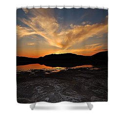 Sunset In Sardinia Shower Curtain