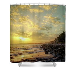 Shower Curtain featuring the photograph Sunset In The Coast by Carlos Caetano