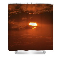 Sunset Shower Curtain by Linda Ferreira