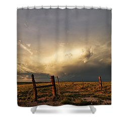 Sunset Near Santa Rosa New Mexico Shower Curtain