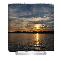 Sunset On The Bayou Shower Curtain