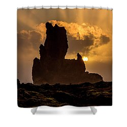 Sunset Over Cliffside Landscape Shower Curtain