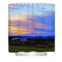 Sunset Over The Great Divide Shower Curtain