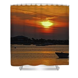 Shower Curtain featuring the photograph 1- Sunset Over The Intracoastal by Joseph Keane