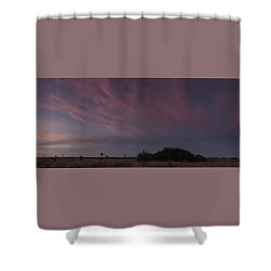 Sunset Over The Wetlands Shower Curtain