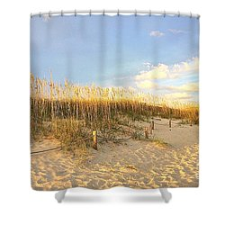 Sunset Sea Oats Shower Curtain