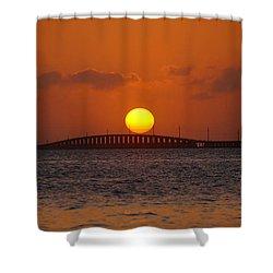 Sunset Seven Mile Bridge Shower Curtain