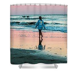 Sunset Stroll In The Surf Hilton Head Shower Curtain
