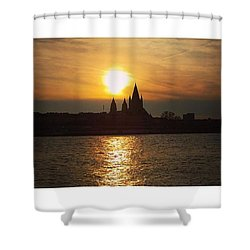 #sunset #sunsetlovers #sunrise #horizon Shower Curtain