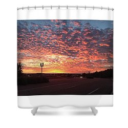 Tampa Sunset Shower Curtain by Janel Cortez