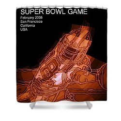 Super Bowl Poster Shower Curtain