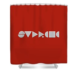 Supreme Being Embroidered Abstract - 2 Of 5 Shower Curtain by Serge Averbukh