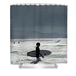Surfing At  Shower Curtain