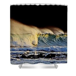 Surfing The Island #2 Shower Curtain by Blair Stuart