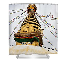 Swayambhunath Shower Curtain