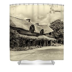 Swiss Cottage Shower Curtain by Martina Fagan
