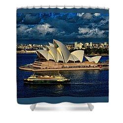 Sydney Opera House Australia Shower Curtain by Diana Mary Sharpton