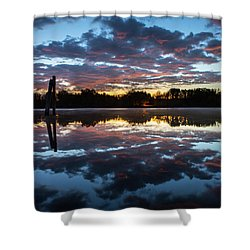 Symetry On The River Shower Curtain