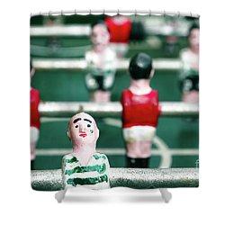 Table Soccer Shower Curtain by Gaspar Avila