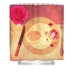 Tablescape Shower Curtain by Lisa Noneman