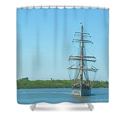 Tall Ship Elissa Shower Curtain