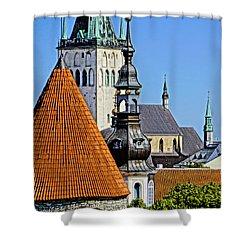 Tallinn Steeples Shower Curtain