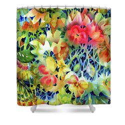 Tangled Blooms Shower Curtain
