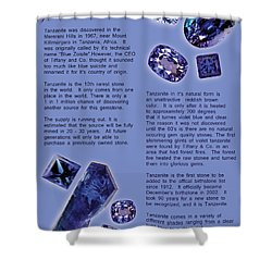 Tanzanite Brochure-inside Shower Curtain
