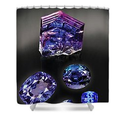 Tanzanite Brochure Shower Curtain